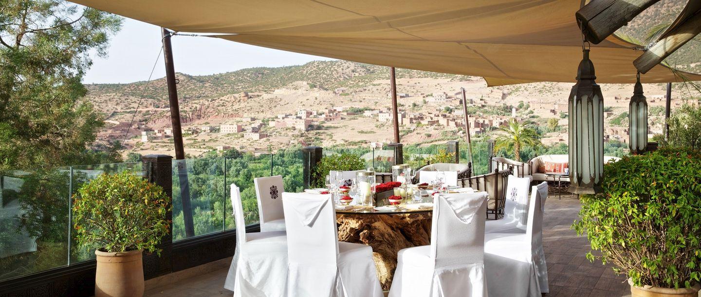 Kasbah Tamadot - Morocco - Outdoor dining